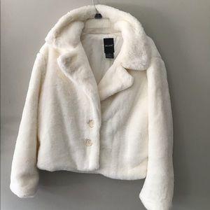Me Jane Teddy Bear Jacket Sz XL Cream color